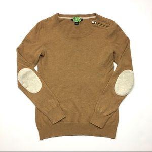 Banana Republic Tan Elbow Patch Wool Mix Sweater
